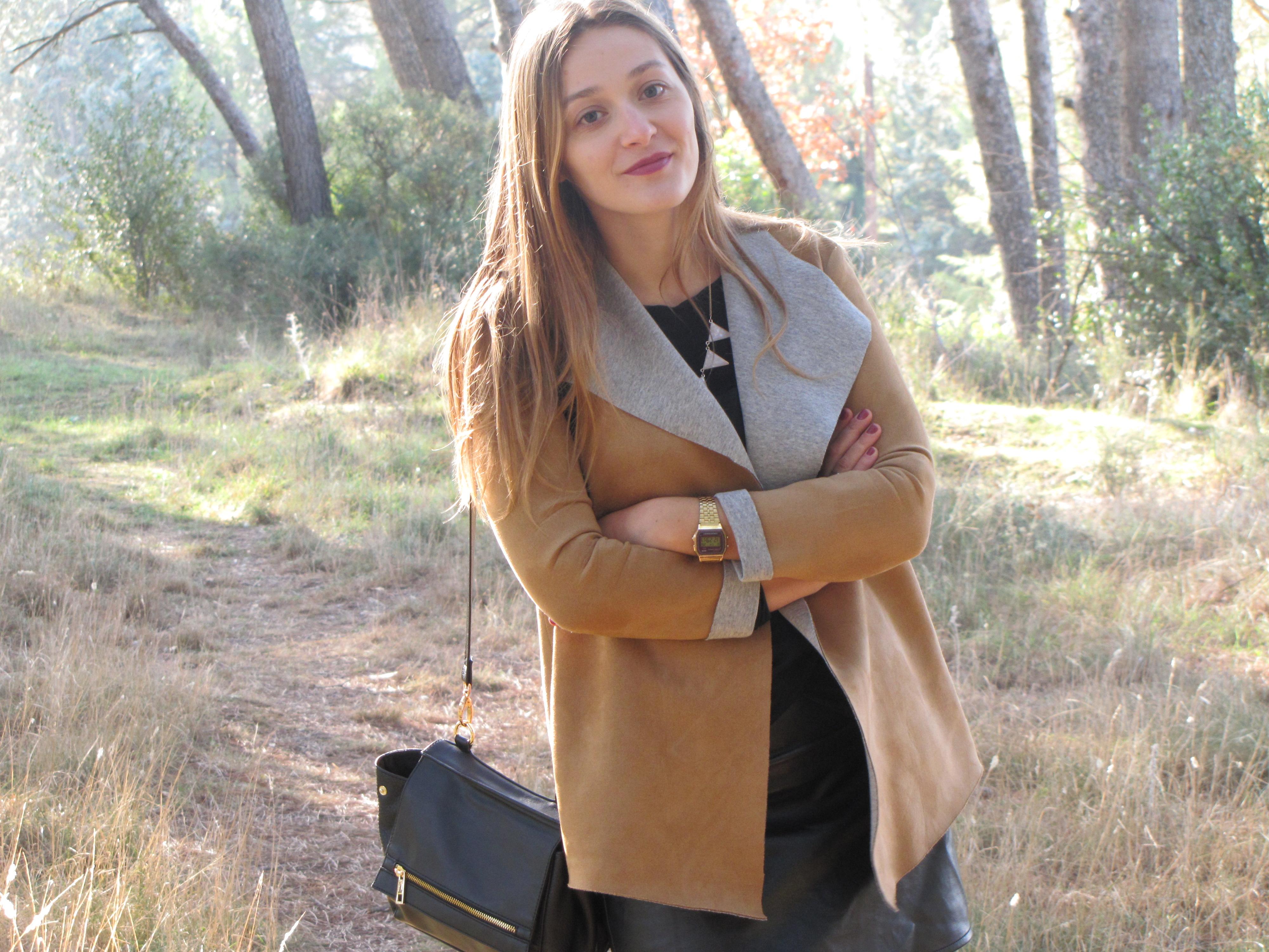 veste marron et gris