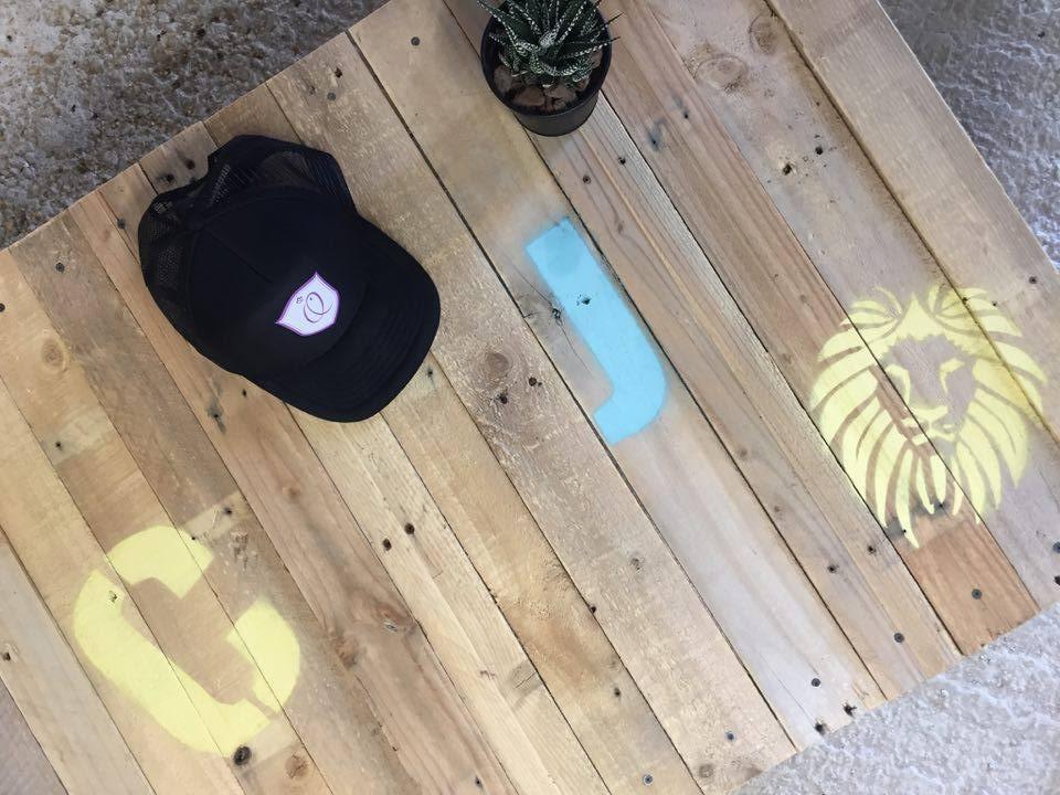 Table basse en palettes, décoration écologique